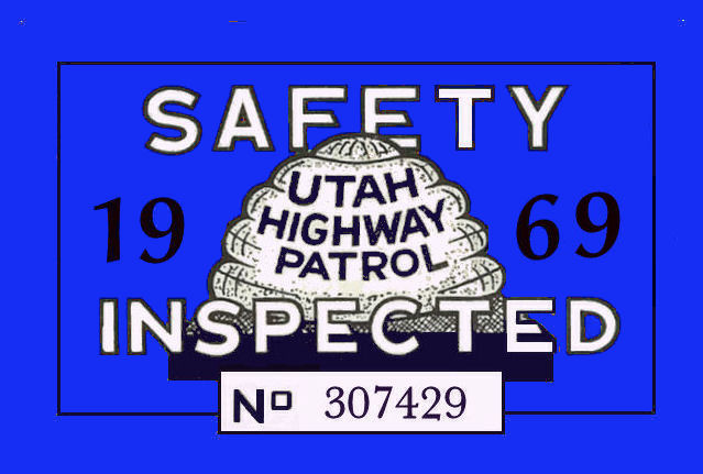 1969 Utah Inspection sticker